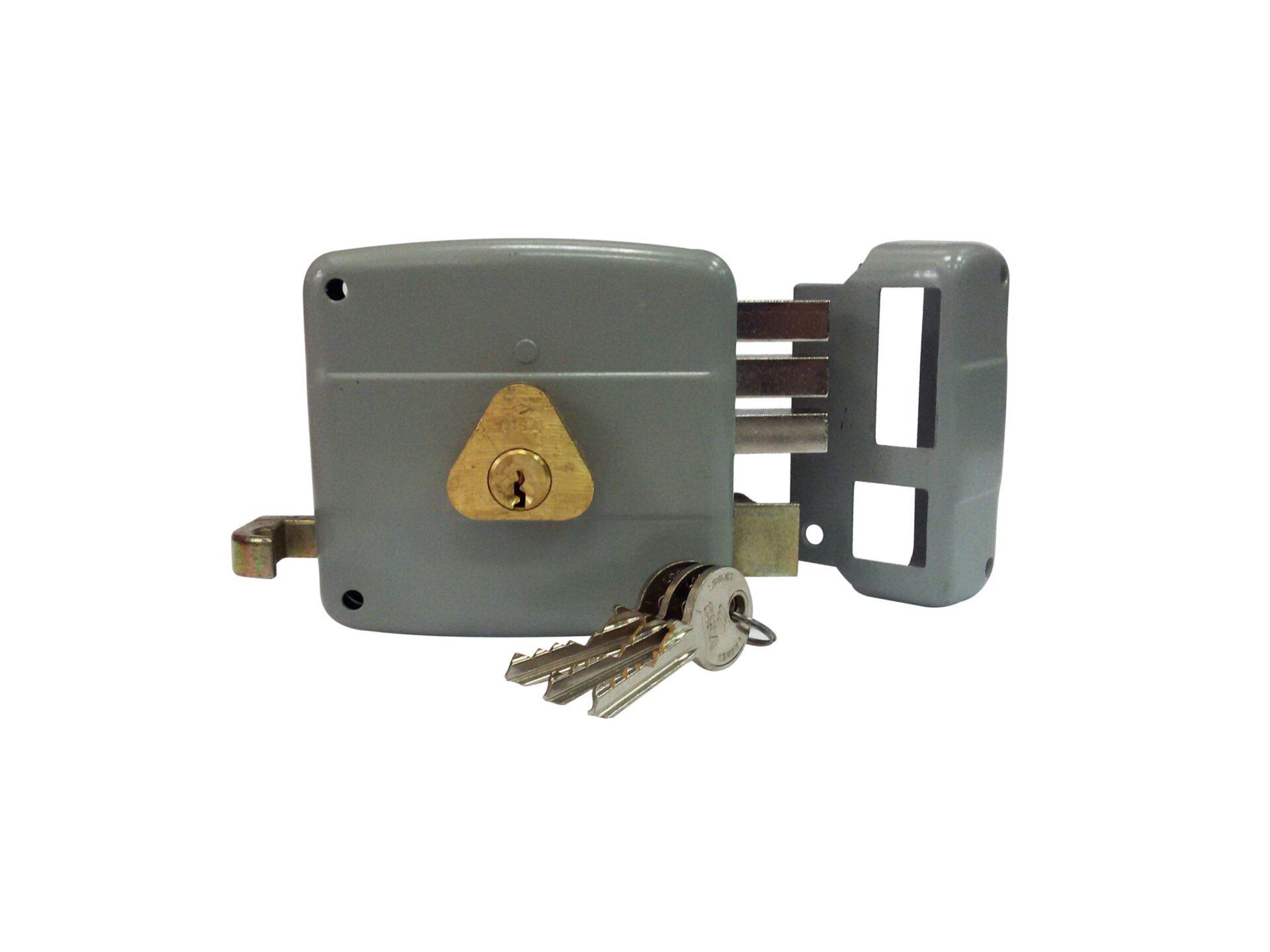 Cerradura Sobreponer 3×3 Cilindro Fijo Derecha