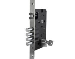 Cerradura embutir 4×3 60mm + cilindro astral 60mm
